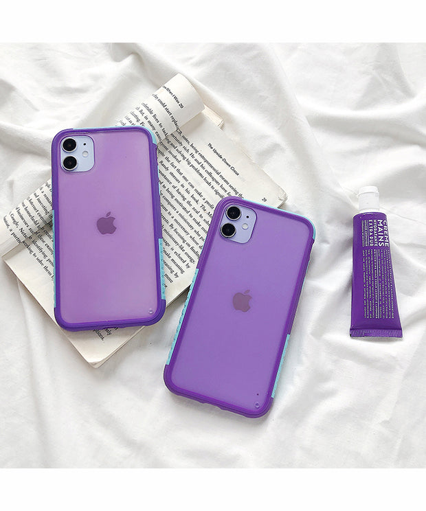 Purple Matte Hybrid Bumper Phone Case