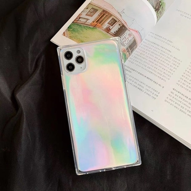 Luxury Laser Square Glitter Phone Case