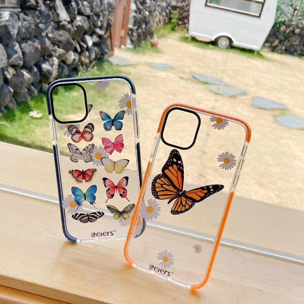 Cute Butterfly Daisy Soft Phone Case