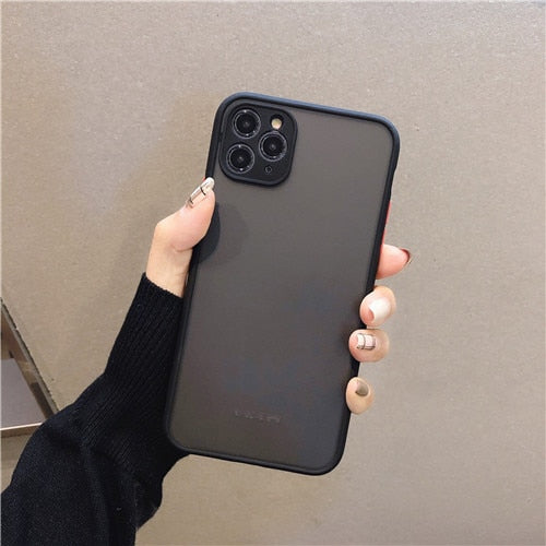 Dark Black Camera Protection Bumper Phone Cases