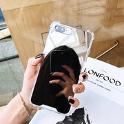 Shockproof Silicone Clear Mirror Phone Case