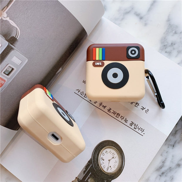 Old Instagram Logo Airpods Case 1/2