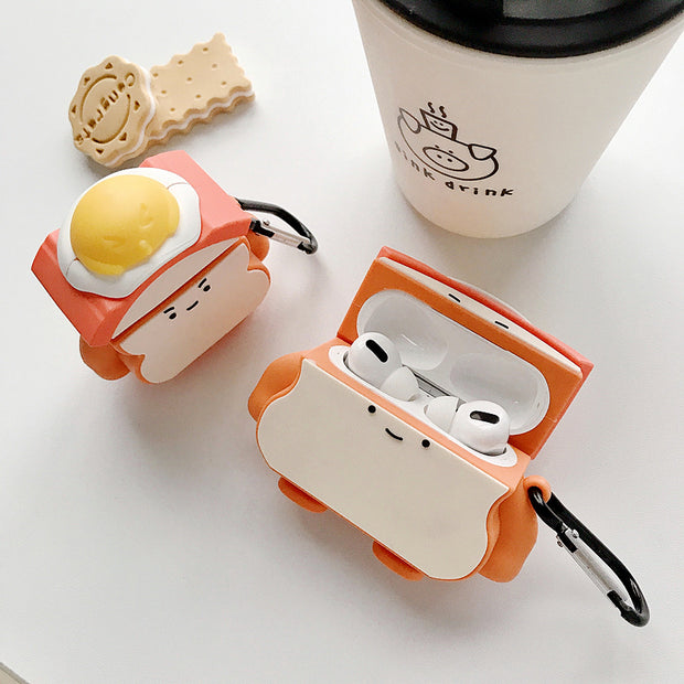 Funny Cute Toast Case For Apple Airpods Pro