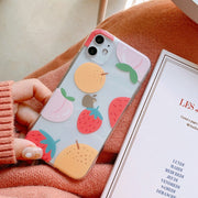 Summer Fruit Strawberry Peach Lovely Soft Phone Case