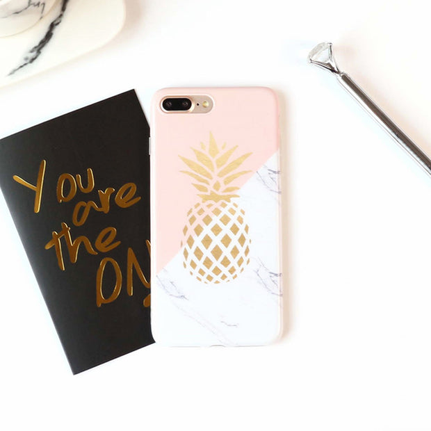 Gold Pineapple Soft Case | iPhone XSM/XS/X/XR/8/7/6