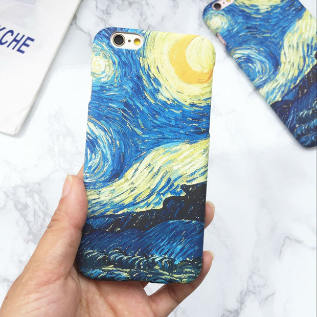 Van Gogh Oil Painting | Hard Phone Case | iPhone XS XR XS Max X 5 5S SE 6 6S 7 8 Plus