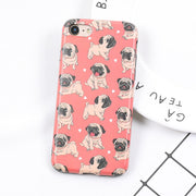 Lovely Cartoon Bulldog Soft Phone | iPhone X/8/7/6