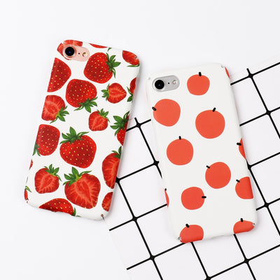 Water Color Fruit Hard Phone Case | iPhone XSM/XS/XR/8/7/6