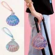 Sea Shell Hologram Suitcase Tags | Let The Holidays Begin
