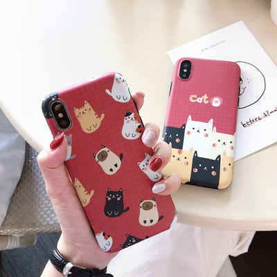 Cute Cartoon Cat Soft Phone Case