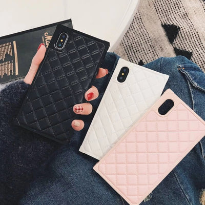 Classic leather Square Phone Case | 3 Colors