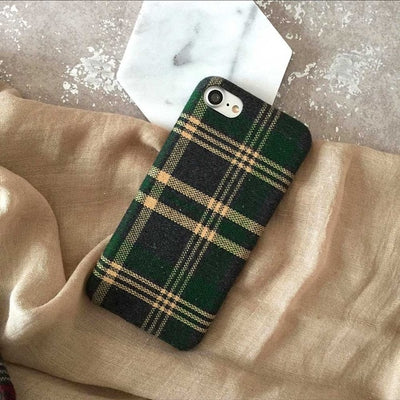Plaid British Style Phone Case | iPhone X/8/7/6