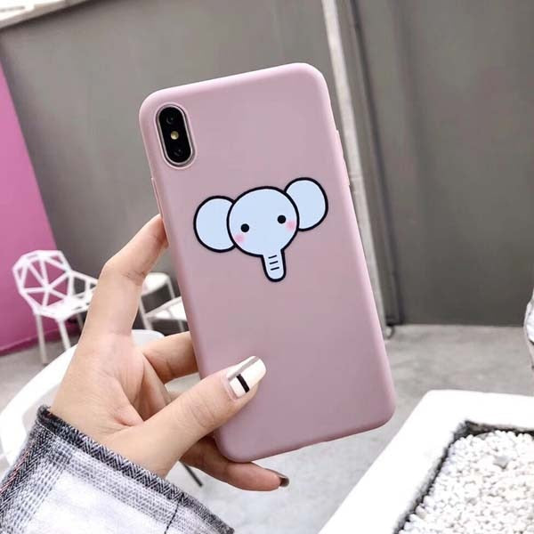 Cute Cartoon Giraffe & Elephant Soft TPU Case