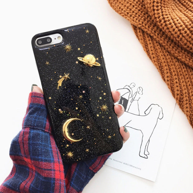 Glitter Star Planet Phone Case