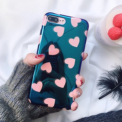 Blue Finished Love Heart Soft Case