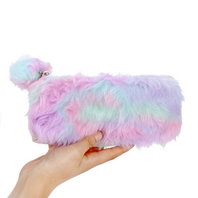Colorful Fluffy Pencil Case | Makeup Pouch | Back To School