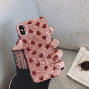 Love Heart Shiny Shell Soft Phone | iPhone XSM/XS/XR/8/7/6