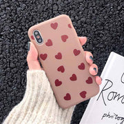 Love Heart Protective Phone Case | iPhone XSM/XS/X/XR/8/7/6