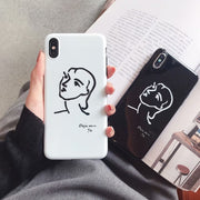 Woman | B/W | Soft Case | XSM/XS/X/XR/8/7/6