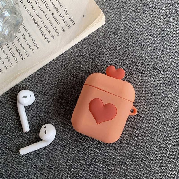 Love Heart Silicone AirPods Protective Case | 4 Colors