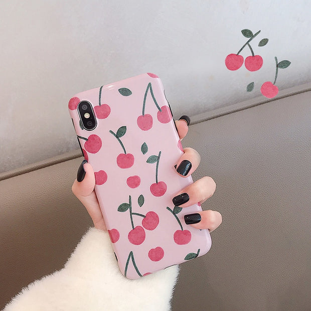 Glossy Cherry Soft iPhone Case