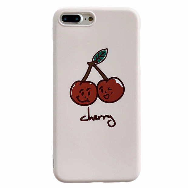 Cartoon Cherry Soft Phone Case | Fruits
