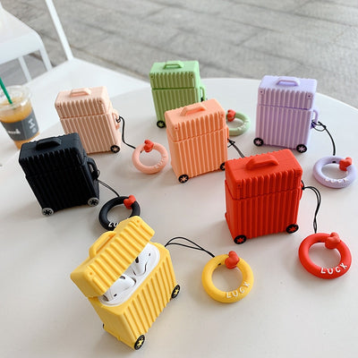 Candy Silicone Suitcase Airpods Case