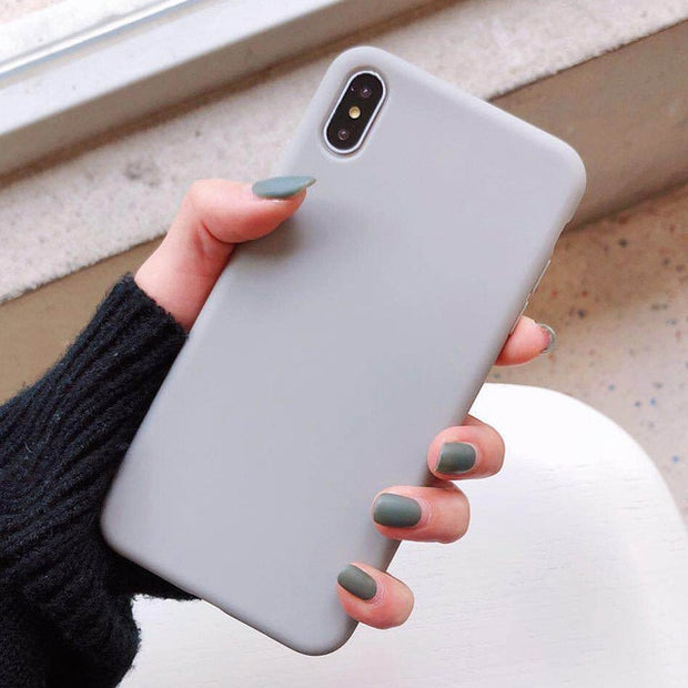 Candy Color Silicone Phone Case |