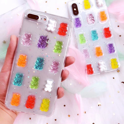 3D Gummy Bears Colorful | Soft Case | Samsung Galaxy S8 S9 S10 Note