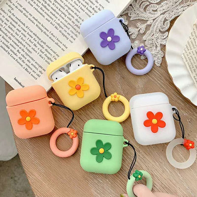 Colorful Flower Airpod Case