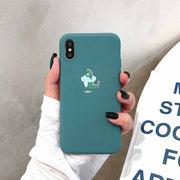 Cute Little Dinosaur Silicone Phone Case
