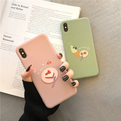 Pastel Strawberry Cake Soft TPU Case | iPhone XSM/XR/XS/8/7/6