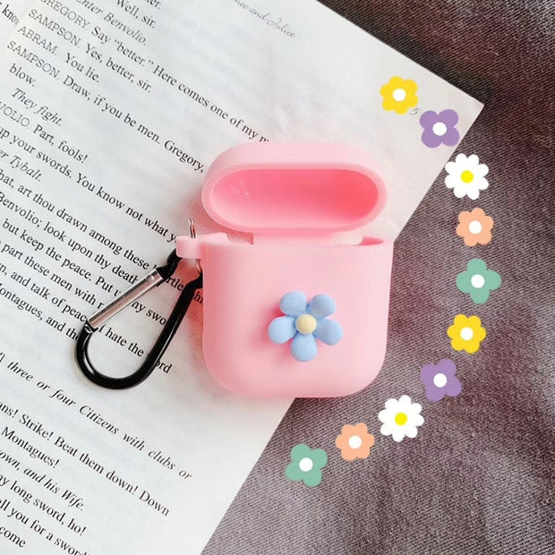 2019 New 3D Flower Silicone Airpods Case