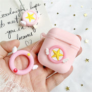 Pastel Pink Star Silicone AirPods