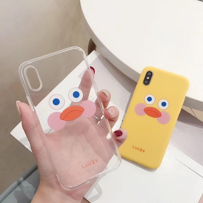 Adorable Yellow Duck Face Soft Phone Case