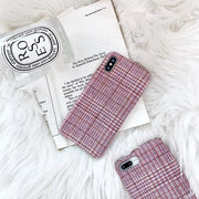 Cute Little Pink Plaid Phone Case