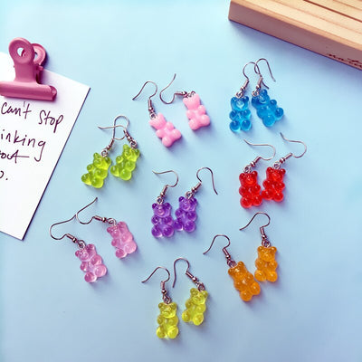 Cute Gummy Bear Dangle Earrings
