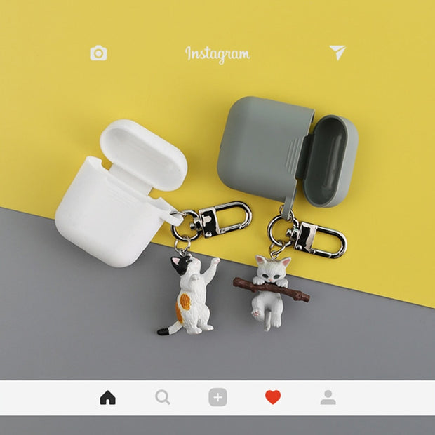 New Cute Cat Silicone Airpods Case