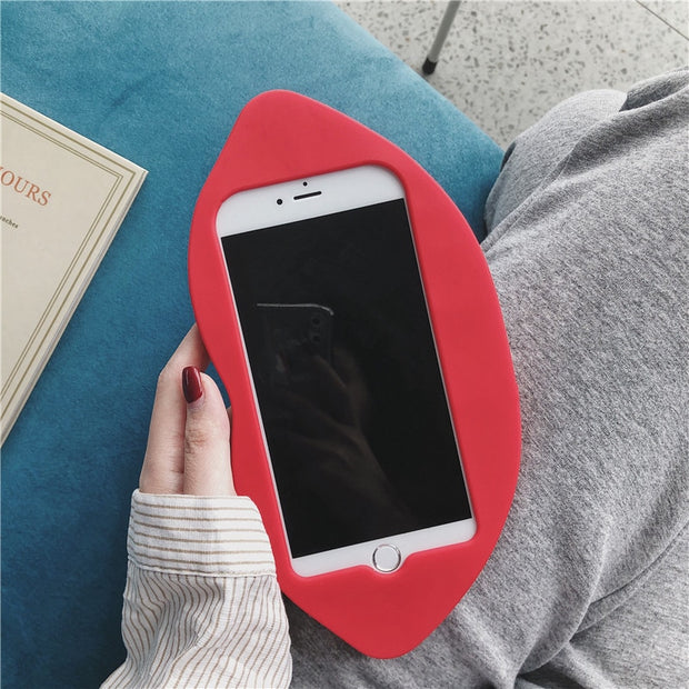 3D Flaming Lips Silicone Phone Case