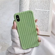 Macaroon Color Luggage Slip Soft Silicone Phone Case |