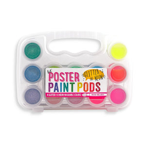 Lil' Paint Pods Neon & Glitter Poster Paint - Set of 12