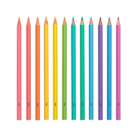Pastel Hues Colored Pencils - Set of 12