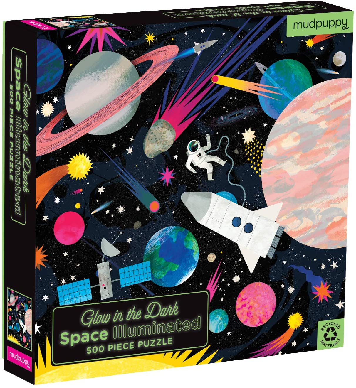 500 Piece Space Glow in the Dark Puzzle