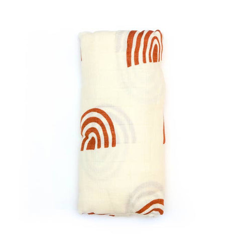 Retro Rainbow Muslin Swaddle