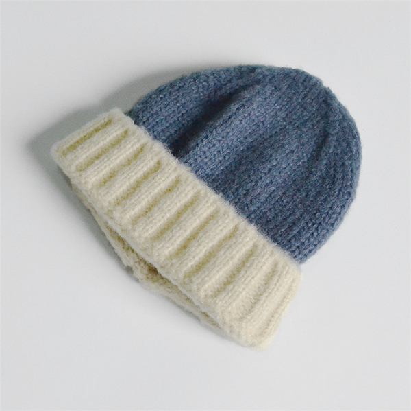 Two Tone Winter Kids Beanie