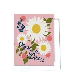 Oops A Daisy Note Card