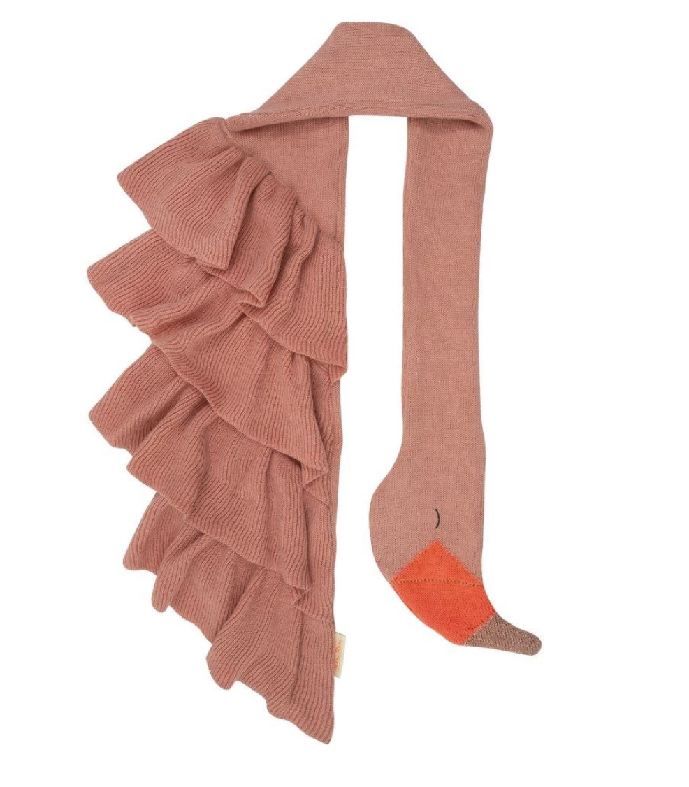 Knit Flamingo Scarf