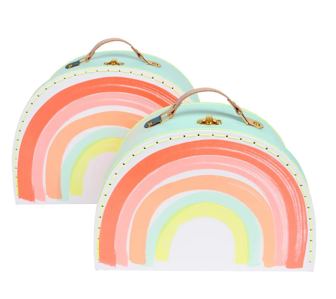 Set of 2 Rainbow Suitcases
