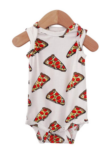 Sleeveless Onesie in Pizza