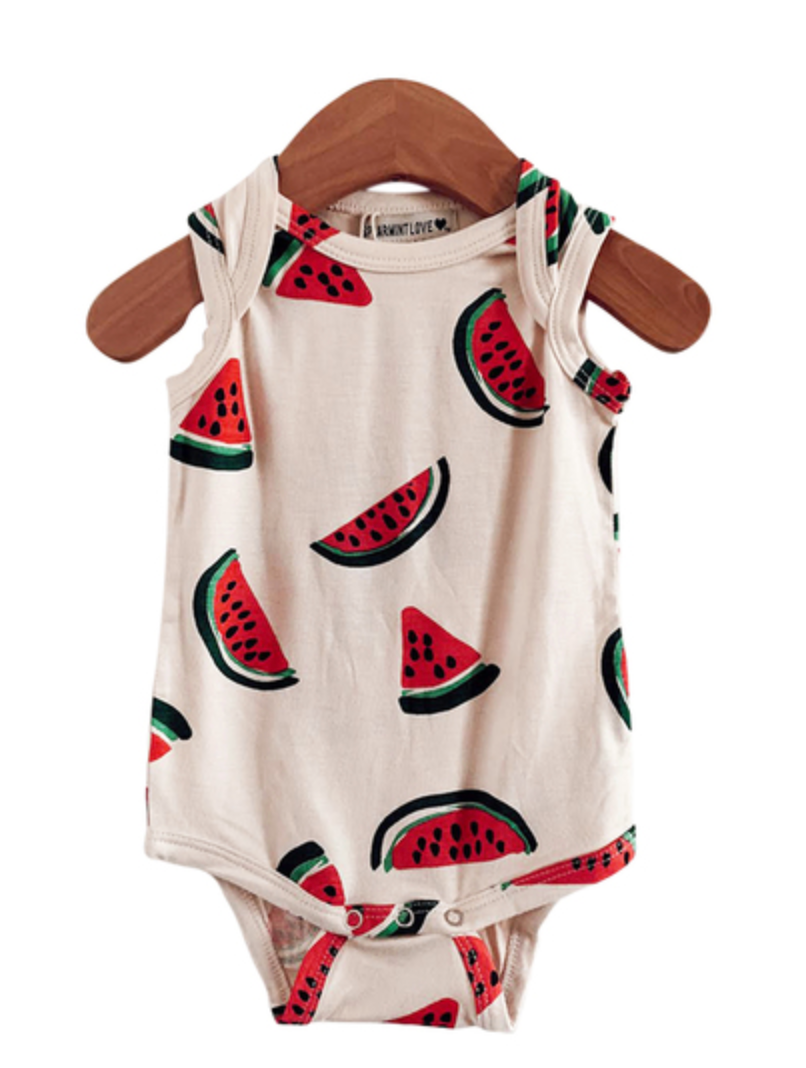 Sleeveless Onesie in Watermelon